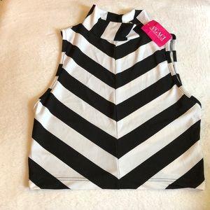 NWT Black & White Striped Crop 🖤